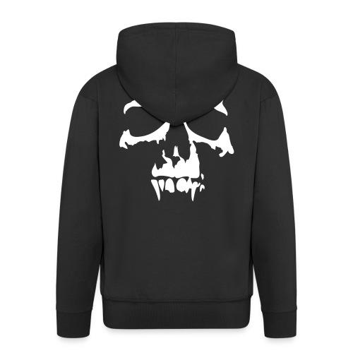 Skull huppari - Miesten premium vetoketjullinen huppari