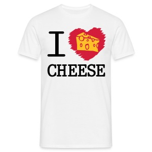 I Love CHEESE - Men's T-Shirt