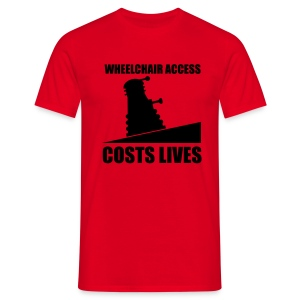 Wheelchair access costs lives - Men's T-Shirt