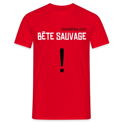 T-shirt  homme Bête sauvage - T-shirt Homme