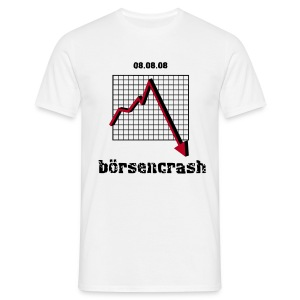 boersencrash_male_white - Männer T-Shirt