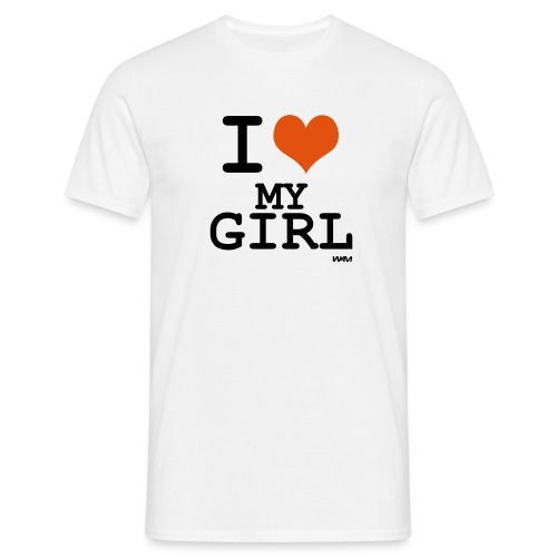 I Love my Girl (Flockdruck) - Comfort T - Männer T-Shirt