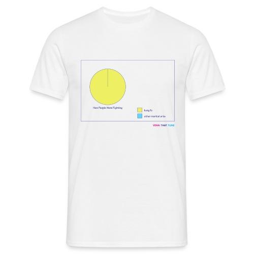 Kung Fu Fighting - white comfort T - Men's T-Shirt