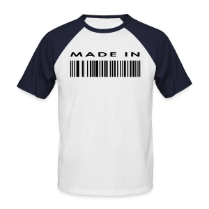 Barcode - Mannen baseballshirt korte mouw
