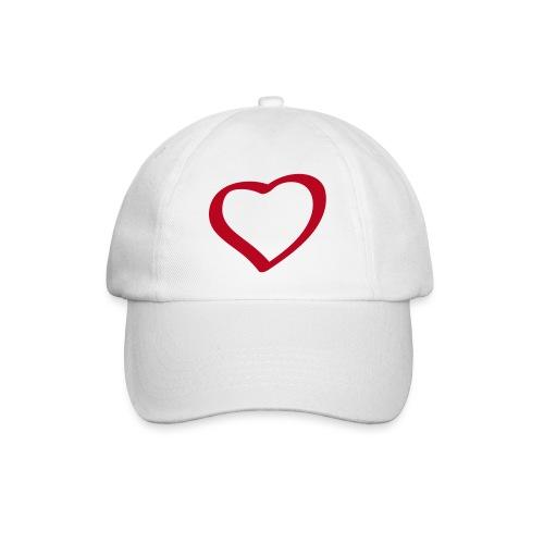 Herz / Сердце in Flockdruck - Baseballkappe