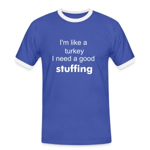 turkey t-shirt - Men's Ringer Shirt