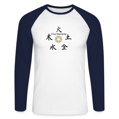 Five Elements Love and Soul - Men's Long Sleeve Baseball T-Shirt