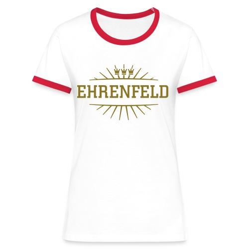 Ehrenfeld_(Gold matt & metallic) - Frauen Kontrast-T-Shirt