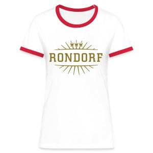 Rondorf_(Gold matt & metallic) - Frauen Kontrast-T-Shirt