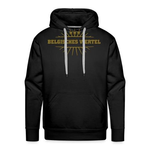 Belgisches Viertel_(Gold matt & metallic) - Männer Premium Hoodie
