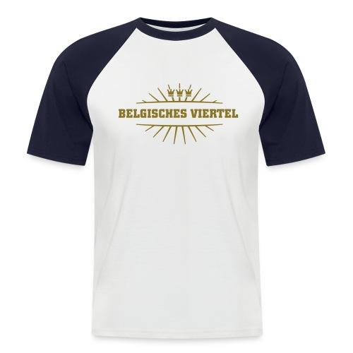 Belgisches Viertel_(Gold matt & metallic) - Männer Baseball-T-Shirt