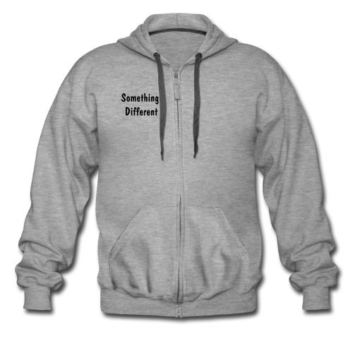 SD Zip Hoodie -Mens -  Dark Text - Men's Premium Hooded Jacket