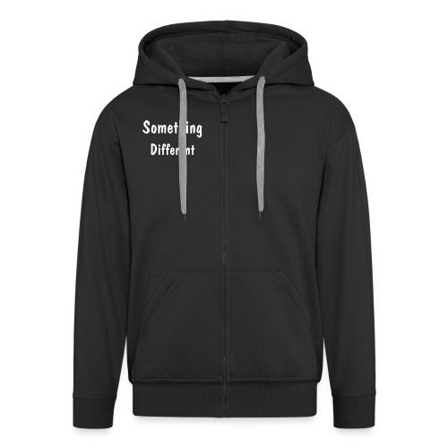 Text Zipped Hoodie - Mens  - Men's Premium Hooded Jacket