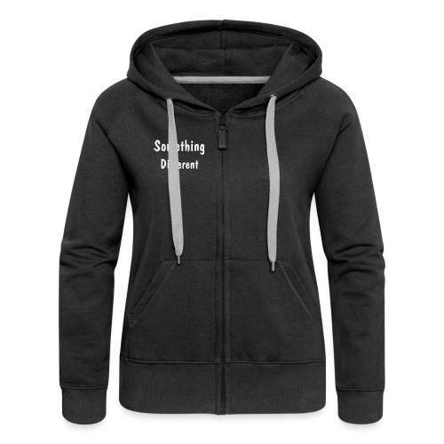 Text Zipped Hoodie - Womens  - Women's Premium Hooded Jacket
