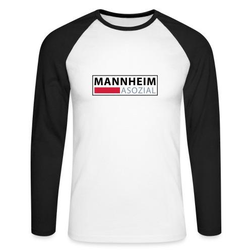 Mannheim Asozial - Männer Baseballshirt langarm