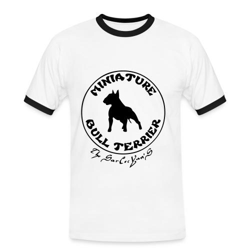 T-shirt contrasté Homme - bull terrier miniature ( mini bull )