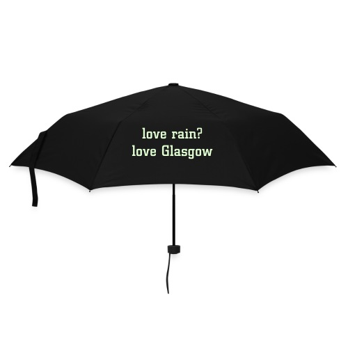 love rain? love Glasgow umbrella - Umbrella (small)