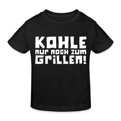 Öko-Grilllehrling Kohle - Kinder Bio-T-Shirt