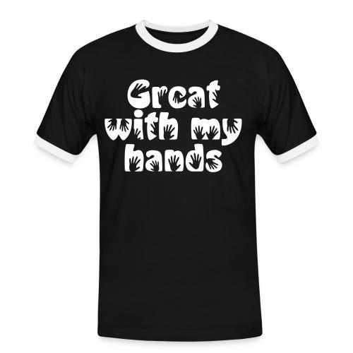 Mens Slim Contrast - Men's Ringer Shirt