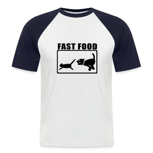 fast for food - Maglia da baseball a manica corta da uomo
