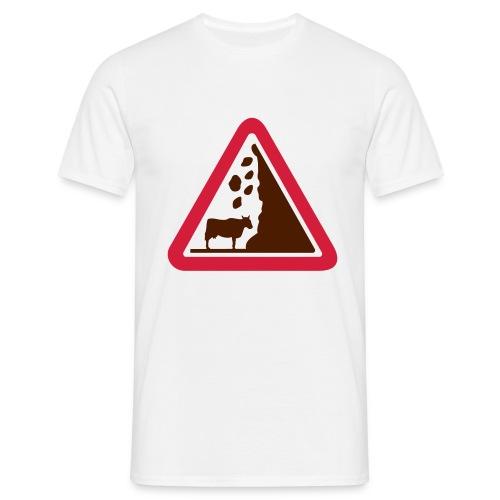 Gefahrenkuh - Männer T-Shirt