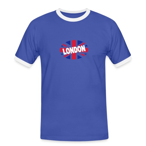 Tee-shirt happy Union-Jack - T-shirt contrasté Homme