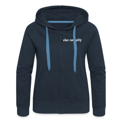 Ladies zipped hooded jacket in red, blue, black, green - Women's Premium Hooded Jacket
