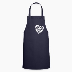 Navy heart  Aprons