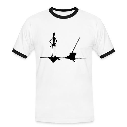 Slim Man - Kontrast-T-skjorte for menn