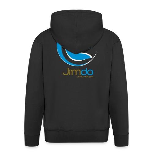 Jimdo Kaputzenjacke (gr. Logo hinten) - Männer Premium Kapuzenjacke