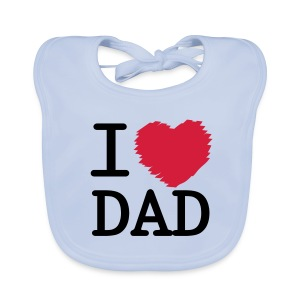 Vauvan ruokalappu I LOVE DAD - valitse väri! - Vauvan ruokalappu