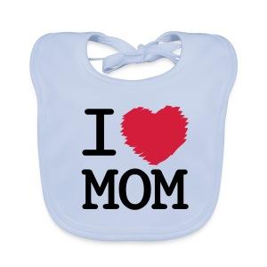 Vauvan ruokalappu I LOVE MOM - valitse väri! - Vauvan ruokalappu