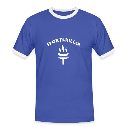 Grill-Meister Shirt - Männer Kontrast-T-Shirt
