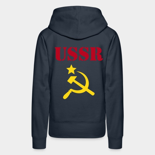 USSR,  серп и молот (girl) - Frauen Premium Hoodie