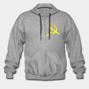 USSR,  серп и молот - Männer Premium Kapuzenjacke