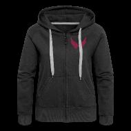 Pullover & Hoodies ~ Frauen Premium Kapuzenjacke ~ Kapuzenjacke Girlie Weinrot