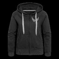 Pullover & Hoodies ~ Frauen Premium Kapuzenjacke ~ Kapuzenjacke Girlie Grau