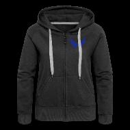Pullover & Hoodies ~ Frauen Premium Kapuzenjacke ~ Kapuzenjacke Girlie Blau