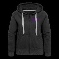 Pullover & Hoodies ~ Frauen Premium Kapuzenjacke ~ Kapuzenjacke Girlie Violett