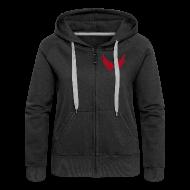 Pullover & Hoodies ~ Frauen Premium Kapuzenjacke ~ Kapuzenjacke Girlie Rot