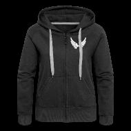 Pullover & Hoodies ~ Frauen Premium Kapuzenjacke ~ Kapuzenjacke Girlie Weiß