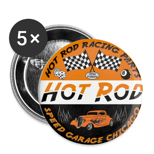 hot rod badge - Buttons small 25 mm