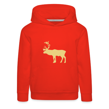 Red Reindeer Kid's Tops