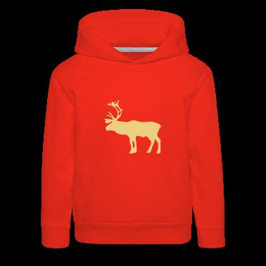 Red Reindeer Kid's Tops