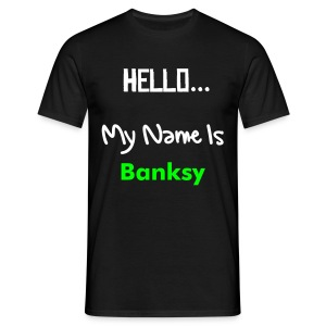 Hello... My Name Is Banksy - Men's T-Shirt