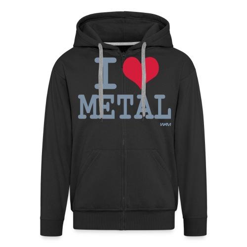 i luv metal hoodie - Men's Premium Hooded Jacket