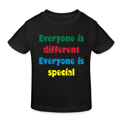 Everyone is special - black hole hearted - T-shirt bio Enfant