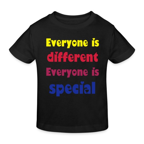 Everyone is special - rainbow black hole hearted - T-shirt bio Enfant