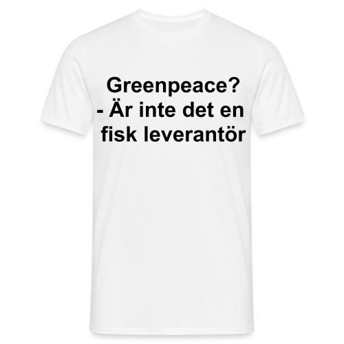 Greenpeace - T-shirt herr