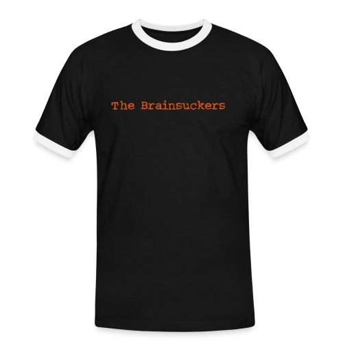 The Brainsuckers Luxus-T mit Backprint FLOCK - Männer Kontrast-T-Shirt